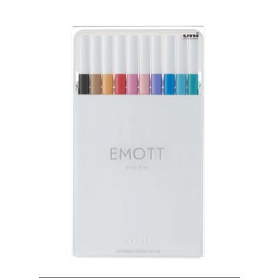 Uni EMOTT Color Liner 0,4 mm sett við 10 stk. NO.2
