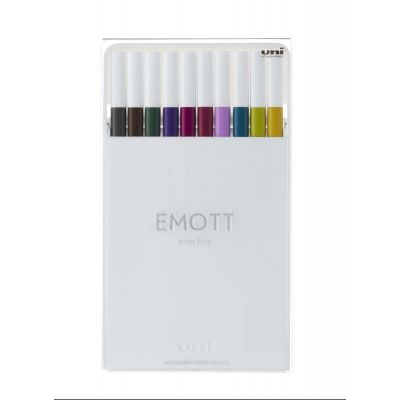 Uni EMOTT Color Liner 0,4 mm sett við 10 stk. NO.3