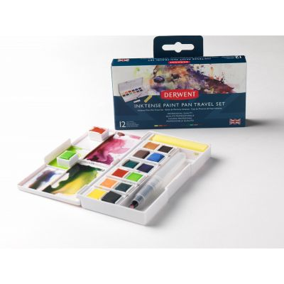 Derwent Inktense Paint Pan Travel Set 12 stk
