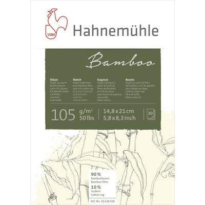 Hahnemühle Bamboo 105g tekniblokkur A5