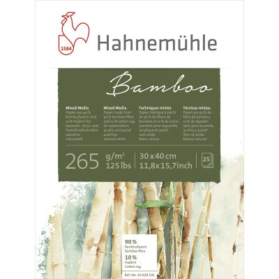 Hahnemühle Bamboo 265g Mixed Media blokkur 30x40 cm