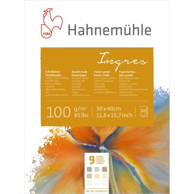 Hahnemühle Ingres 100gsm pastelblokkur 9 litir MOULD-MADE ROUGH 30x40 cm