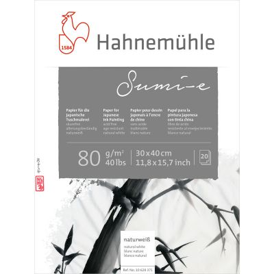 Hahnemühle Sumi-e 80gms Japanese Ink Painting blokkur 30x40 cm